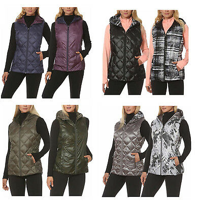 GERRY brand -- Women's Reversible Down Hooded Vest -- Choose Size/Color -- 'NWT