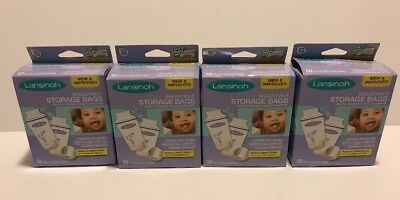 LOT - 4x Lansinoh Breastmilk Storage Bags 50 Count Pre-Sterilized, 200 Total