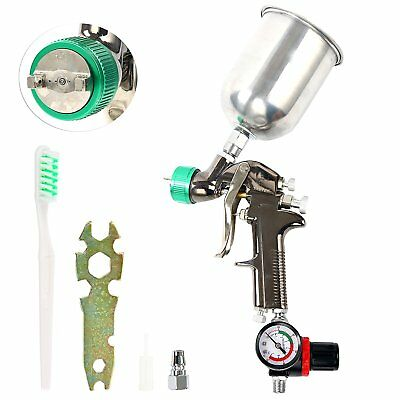 【Ships from CA】 HVLP Gravity Feed Air Spray Gun |1.7mm Nozzle Size |600cc Al Cup