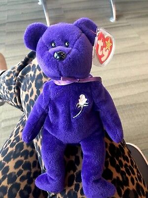 Original TY Beanie Baby PRINCESS (Diana) Bear  with ERROR 1997 Rare Retired