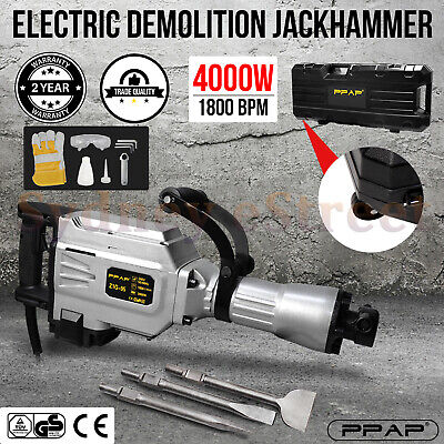 NEWEST 2400W 1400BPM Jackhammer Commercial Grade Demolition Jack Hammer Concrete