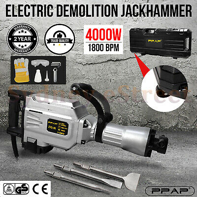 PPAP 3000W Jackhammer Commercial Grade Demolition Jack Hammer Concrete Electric