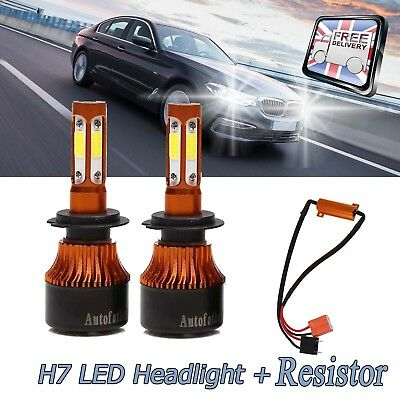 For BMW 3 5 Series LED H7 CREE Headlight Error Free Bulbs Anti Flicker Resistor