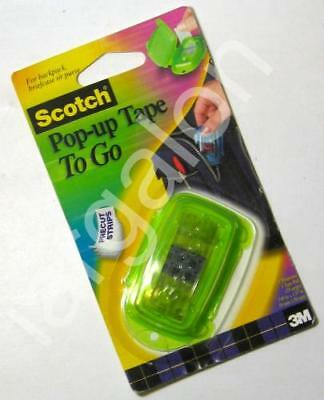 Scotch Pop-up Tape To Go (strips in Green portable case) NEW
