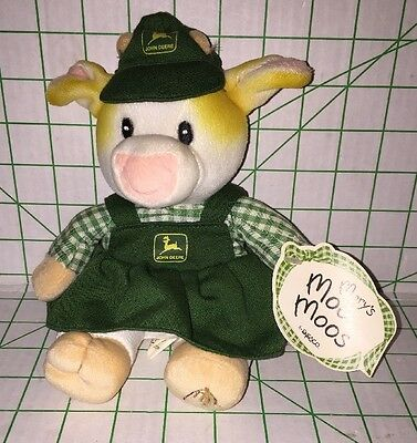 Mary's Moo Moos John Deere Patty Stuffed Plush Cow 1999