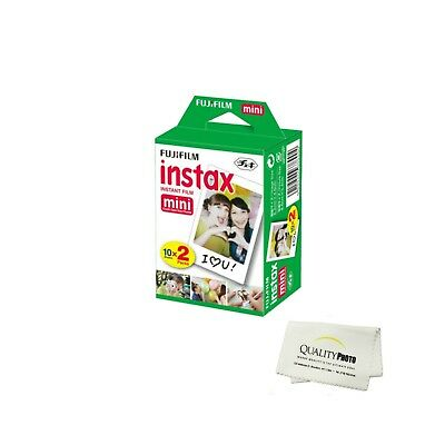 Fujifilm INSTAX Mini Instant Film 2 Pack 20 SHEETS (White) For Fujifilm Mini 8 C