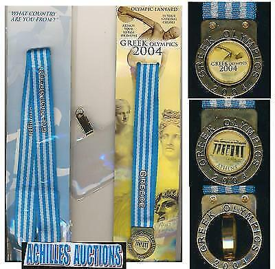 Greece Greek Lanyard for ID PASS { Country : GREECE }, Olympic Games ATHENS 2004