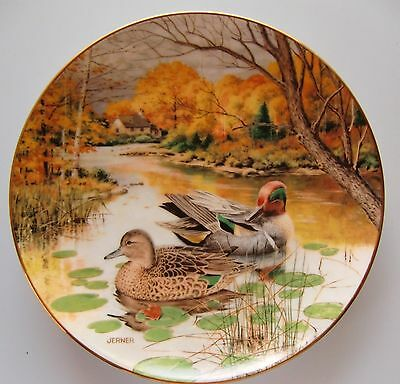 The Green-Winged Teal Plate 4th Issue Living With Nature: Jerner's Ducks 1987