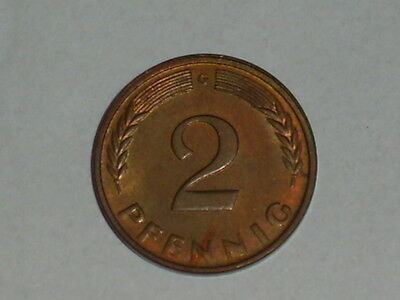 RRR  2 Pfennig 1950 G in fast/Stempelglanz mit Patina in Top  RRR