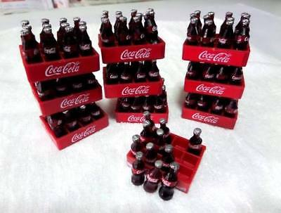 Lot Of 120 Bottles 3D In Case Coca Cola Miniature Dollhouse Figure Collectible