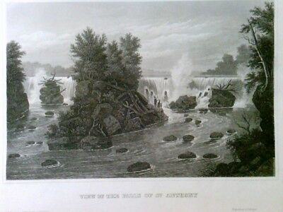 View of the Falls of St. Anthony, (Mississippi),