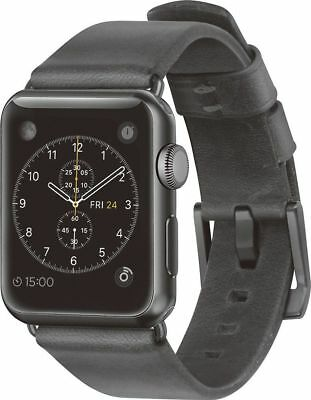 NOMAD Slate Gray Leather Band For Apple Watch 38mm
