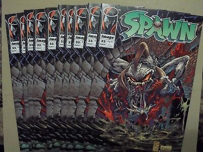 (10) LOT of SPAWN #33 1995 1st print Image comics Todd McFarlane Greg Capullo NM