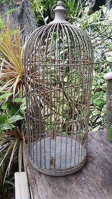 Vintage Metal Decorative Dome Top Bird Cage Antique Decor