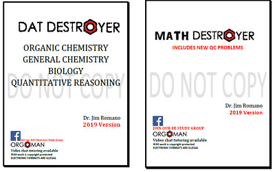 2018 DAT and 2018 Math Destroyer