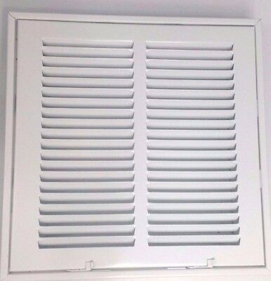 "Hart Cooley Steel Return Filter Grill 673 12.5"" x 12.5"" HVAC AC Heat White"