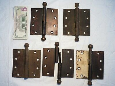 "Antique 5"" x 5"" Stanley Reversible Left Right Hand Lift Off Gravity Door Hinge"