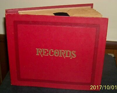 Nice Lot of Twelve  1950s Popular 45s in a Very Nice and Clean Storage Album