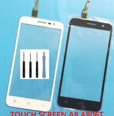Top Front Outer Touch screen Digitizer lens Glass Panel for Lenovo A8 A806 A808T
