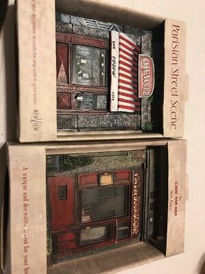 Chiu Tak Hak  3D Wall Resin French Storefronts SET OF 2 Decor Plaques
