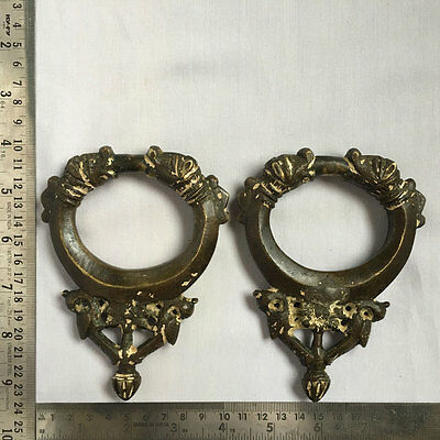 A pair of old or antique solid brass door knocker rare and collectible figural