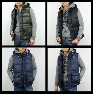 New Abercrombie & Fitch A&F by Hollister Men Puffer Vest Down Filled Jacket Size