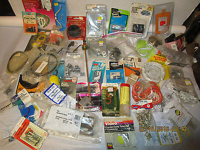 large lot of vintage hardware & other household items most in original packages