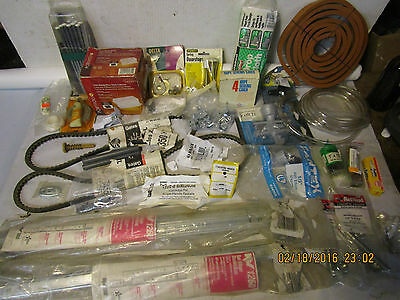 lot of assorted vintage hardware and useful items, most in original packages
