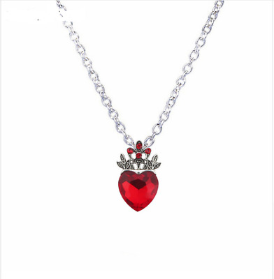 Valentine's Day Evie Necklace Descendants Red Heart Crown Necklace Queen Hearts