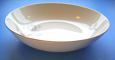 """Queens Royal Fine China Gray Rose 9 1/4"""" SERVING BOWL Japan"""