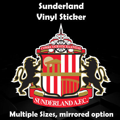 Custom sunderland badge sticker car sticker window sticker