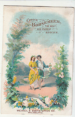 Bohsemeem Spices Couple Strolling Garland Weikel & Smith Philadelphia c1880s