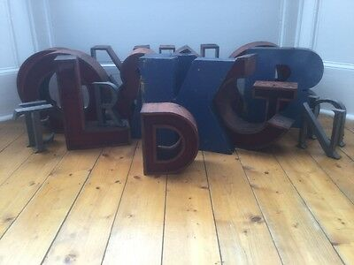 1950/60's Copper/Perspex Letter D Sign Name Initial Prop Industrial