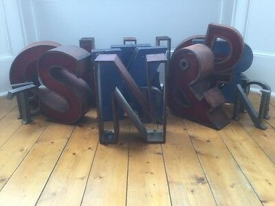 1950/60's Copper Metal Letter N Sign Name Initial Prop Industrial