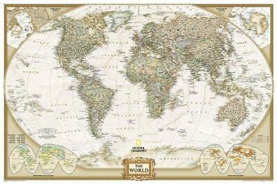 World Executive Poster Size Map: Wall Maps World (National Geographic Maps) | Na