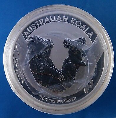 2011 Australia Koala 1 Ounce .999 Silver Coin from Sealed Roll