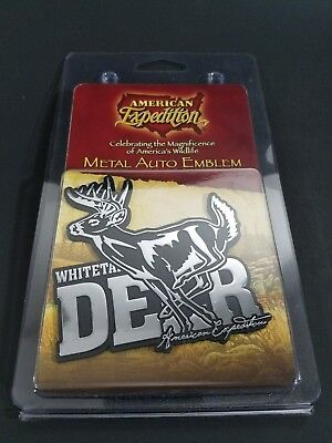 American Expedition Metal Auto Vehicle Truck Car Emblem Whitetail Deer