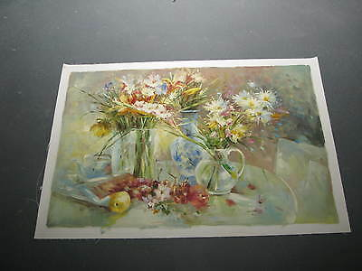 Oil on Canvas  Arranging Flowers  36 x 24