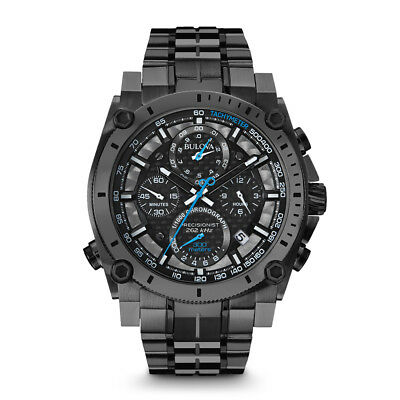 Bulova Men's Stainless Precisionist Chronograph Watch in Gunmetal, 98B229