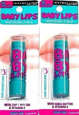 Maybelline Baby Lips Moisturizing Lip Balm SPF 20, Grape Vine 1 ea (Pack of 3) Vaseline Anti Bacterial Lotion 75Ml