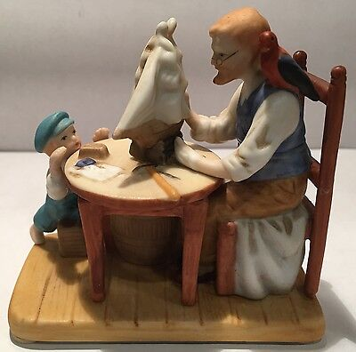 """Norman Rockwell Ceramic Figurine """"For A Good Boy"""" by The Norman Rockwell Museum"""