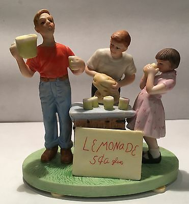 """Norman Rockwell Ceramic Figurine """"Little Salesman"""" by Museum Collections"""