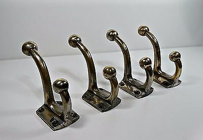 Antique Solid Brass Strong Wall Mount Hanger Hook Art Deco