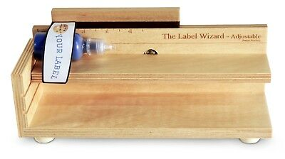 The Label Wizard- Adjustable, Bottle Labeler, jar labeler, label applicator