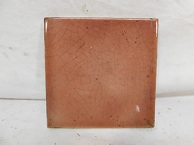 Antique TRENT 6 x 6 Fireplace Hearth Tiles - C. 1885 Architectural Salvage