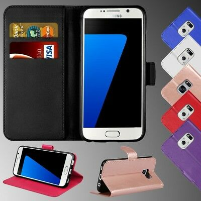 Luxury Genuine Real Leather Flip Case Wallet Cover For Samsung Galaxy S8 S7 Edge