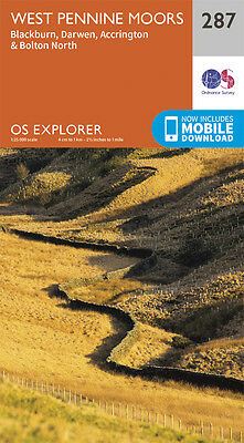 West Pennine Moors Explorer Map 287 - OS - Ordnance Survey