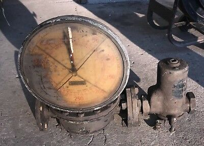 Vintage/Antique Large Brass Neptune Water Meter Gallons