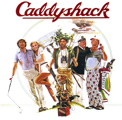 T-SHIRT Caddyshack Golf Caddy Shack chevy chase bill murray tiger woods