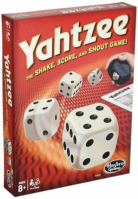 Classic Yahtzee Board Game Dice Rolling Shaker Score Pad Cards Gaming Guide